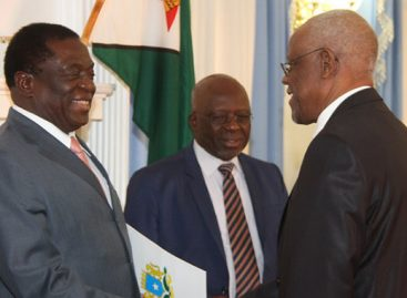 Six envoys present credentials