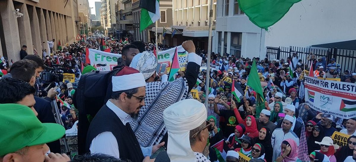 Capetown citizens march in solidarity with Palestine people